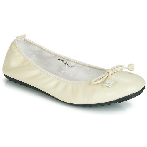 Schoenen Dames Ballerina's Mac Douglas ELIANE Ecru