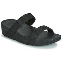 Schoenen Dames Leren slippers FitFlop LOTTIE GLITZY SLIDE Zwart