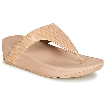 Schoenen Dames Teenslippers FitFlop LOTTIE CHEVRON SUEDE Roze