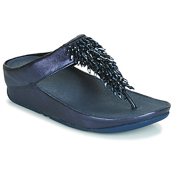 Schoenen Dames Teenslippers FitFlop RUMBA TOE THONG SANDALS Blauw