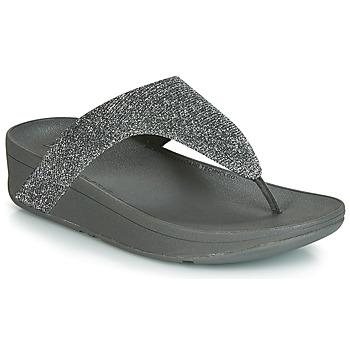 Schoenen Dames Teenslippers FitFlop LOTTIE GLITZY Zilver