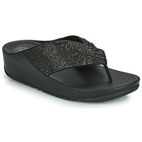 Schoenen Dames Teenslippers FitFlop TWISS CRYSTAL Zwart