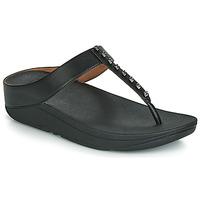 Schoenen Dames Teenslippers FitFlop FINO TREASURE Zwart