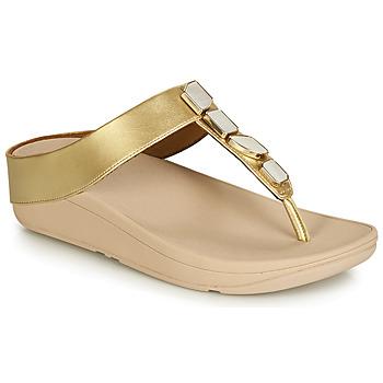Schoenen Dames Sandalen / Open schoenen FitFlop FINO SHELLSTONE Goud