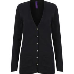 Textiel Dames Vesten / Cardigans Henbury Fine Knit Marine
