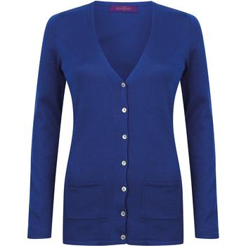 Textiel Dames Vesten / Cardigans Henbury Fine Knit Koninklijk