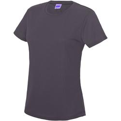 Textiel Dames T-shirts korte mouwen Awdis JC005 Houtskool