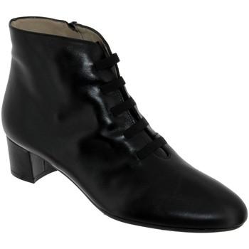 Schoenen Dames Enkellaarzen Brenda Zaro F1780 Zwart leer