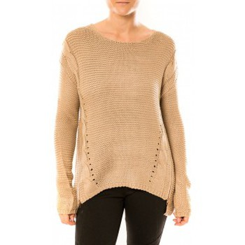 Textiel Dames Truien By La Vitrine Pull Laetitia MEM K078 Taupe Bruin