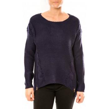 Textiel Dames Truien By La Vitrine Pull Laetitia MEM K078 Bleu Blauw