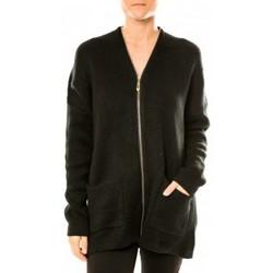 Textiel Dames Vesten / Cardigans Tcqb Gilet Lely Wood L586 Noir Zwart