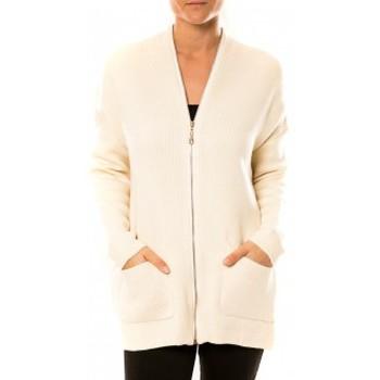 Textiel Dames Vesten / Cardigans Tcqb Gilet Lely Wood L586 Blanc Wit
