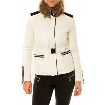 Textiel Dames Dons gevoerde jassen Sweet Company Doudoune Voyelles 3B093 Blanc Wit