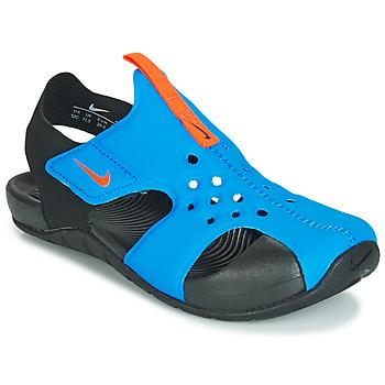 Schoenen Jongens Sandalen / Open schoenen Nike SUNRAY PROTECT 2 PS Zwart / Blauw
