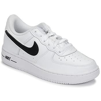 Schoenen Kinderen Lage sneakers Nike AIR FORCE 1-3 PS Wit / Zwart