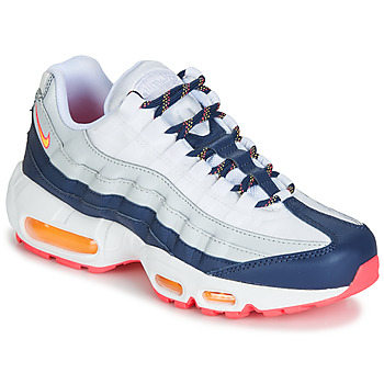 100% authentic 6ad2c c2157 Schoenen Dames Lage sneakers Nike AIR MAX 95 W Wit  Blauw  Oranje